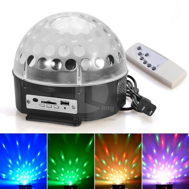 LED Диско лампа с усилвател, МР3 и дистанционно