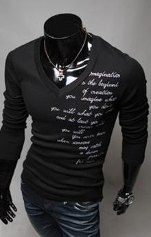 Мъжка блуза с графирани надписи