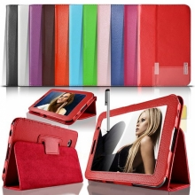 Цветни Кожени калъфи за таблет Samsung Galaxy Tab 2 7 инча + Писалка