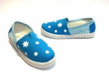 Нов модел балеринки сини с бели звездички