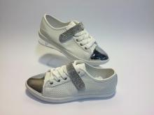Елегантни дамски обувки CF012 WH-SILVER