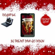 Таблет DIVA 3G GPS Android tab 7 - 7 инча, 3G, ТЕЛЕФОН, GPS + КЛАВИАТУРА