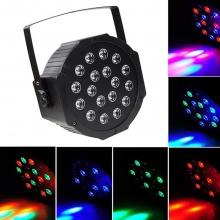 Диско прожектор с 18 цветни LED