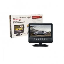 Монитор 9 инча PNI NS911D, аналогова TV, USB, SD, AV вход