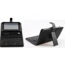 Калъф с клавиатура за таблет 7 инча - mini USB - ЧЕРЕН