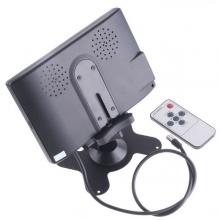 TFT LCD 7 инчов монитор за връзка с камера за паркиране, DVD, VCR, CCTV с 2 видео входа