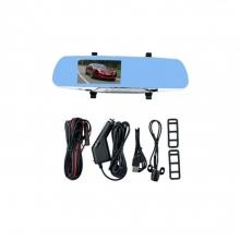 Видеорегистратор - огледало с 2 камери AT L806 4.3 инча 12MP + 16GB карта