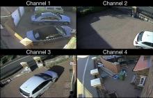 4 - канален DVR с 4 булет 1MP камери за видеонаблюдение с връзка с интернет и 3G