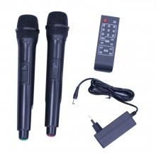 Преносима Тонколона Караоке 12 инча THS-B1201BTW с два микрофона, батерия, Bluetooth, FM, USB, SD, 2