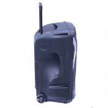 Преносима Тонколона Караоке 15 инча THS-B1501BTW с два безжични Микрофона, Bluetooth, FM, USB, SD