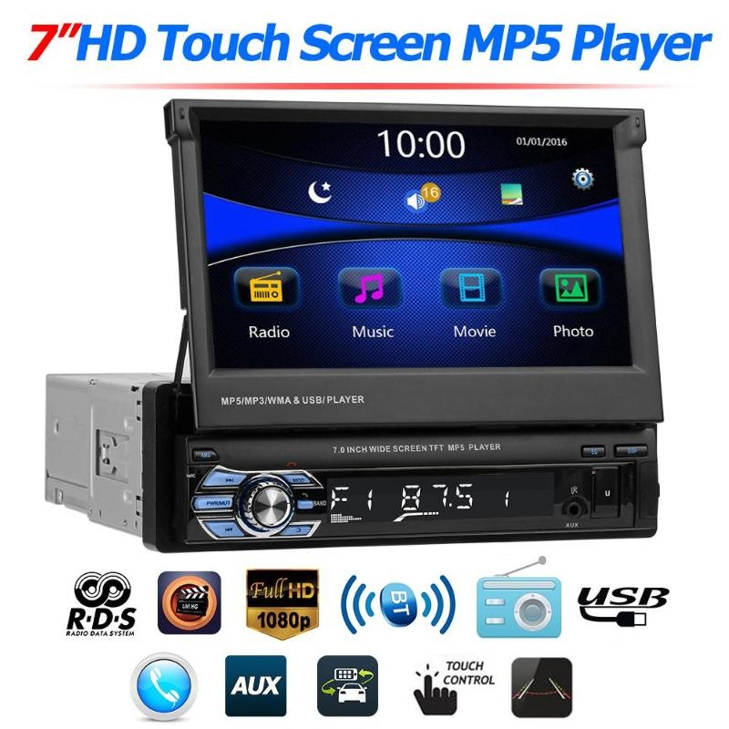 Мултимедия плеър 1 Din 9601, Bluetooth, FM, MP3, MP4, МР5 плейър, AV вход