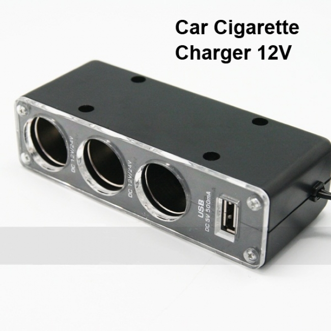 Разклонител за запалка + USB - 12V