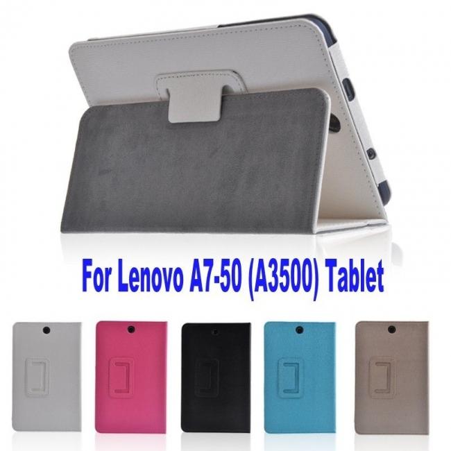 Кожен калъф за таблет Lenovo A3500 A7-50 - 7 инча ПАПКА + ПИСАЛКА