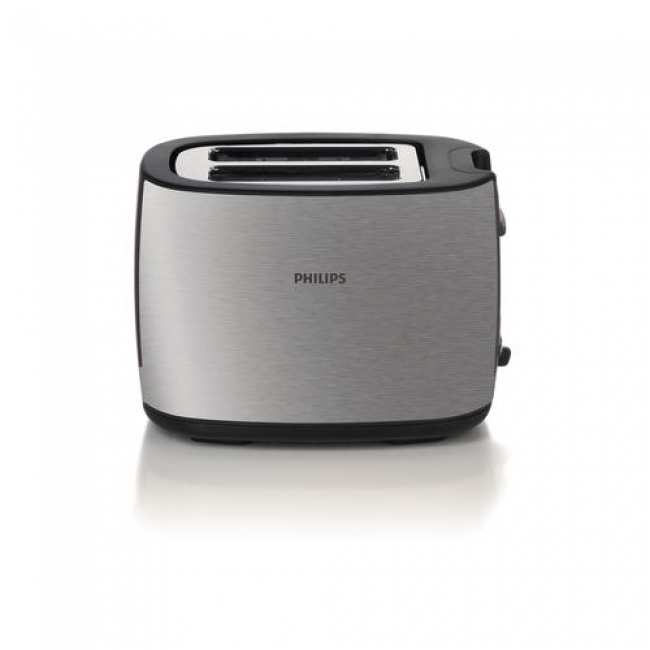 Philips Тостер 2 slot metal 2 function Brushed metal Wide slot