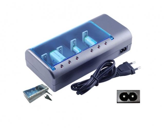 Универсално зарядно за батерии AAA, AA, C, D, 9V