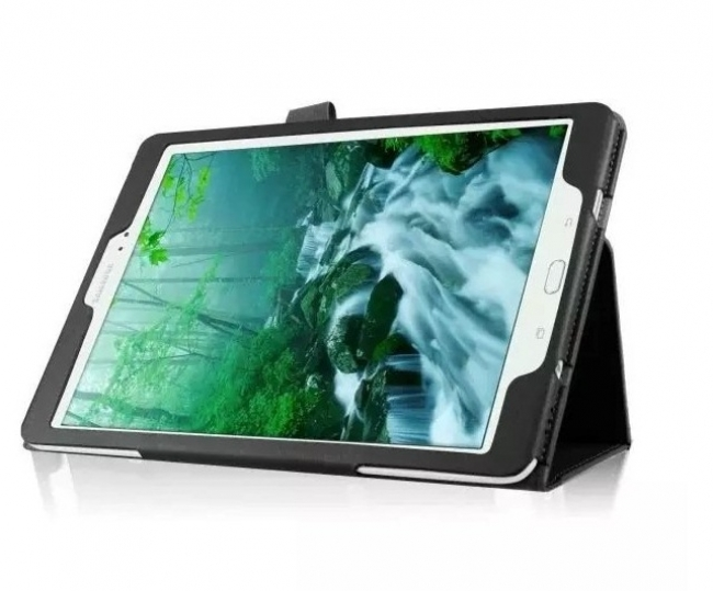 Черен кожен калъф за Samsung Galaxy Tab S2 T815 - 9.7 инча ПАПКА + ПИСАЛКА