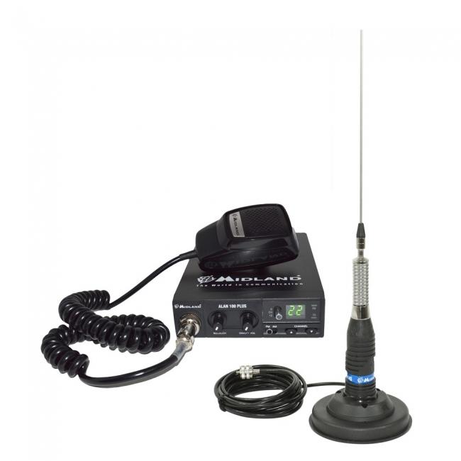 Комплект радиостанция Alan 100 + антена с магнит Midland ML145 120 - pl