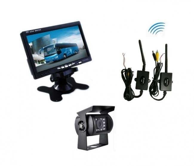 """Безжична система от IR камера за паркиране +  7"""" монитор за камиони, кемпери AT C109M"""
