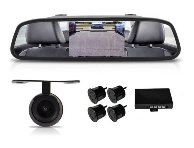 АТ 112M 3в1 Огледало + камера за паркиране и парктроник за кола