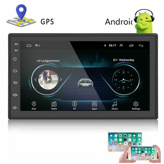 Универсална навигация двоен дин с Android AT 1018, GPS, WiFi, 7 инча