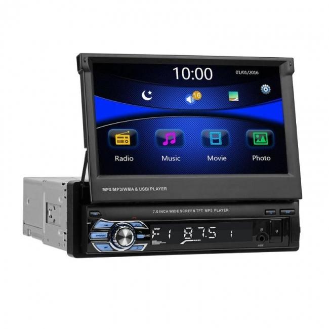 Мултимедия плеър One Din 9601, Bluetooth, FM, MP3, MP4, МР5 плейър, AV вход