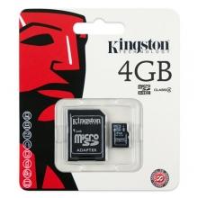 Micro SD карта Kingston 4GB