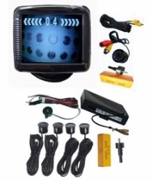 "Парктроник система с 3.5"" LCD дисплей, камера с IR и 4 датчика"