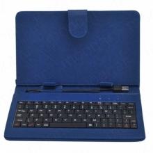 Калъф с клавиатура за таблет 9 инча УНИВЕРСАЛЕН - USB - син