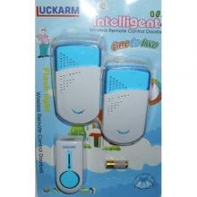 Безжичен звънец за врата с 1 бутон и 2 звънеца