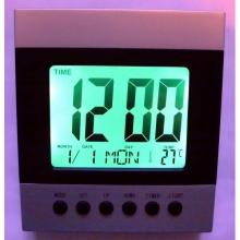 Настолен часовник с будилник,термометър и LCD дисплей