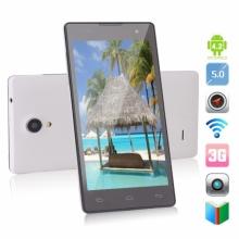 Четириядрен смартфон Privileg JK-12 - 5 инча, 1GB RAM, 2 СИМ, 3G, БЯЛ