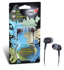 Слушалки - тапи GENIUS GHP - 200A Black - iPod, iTouch, iPhone, mp3
