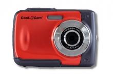 Червен цифров фотоапарат iON Cool iCAM S1000 за подводни снимки