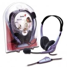 Слушалки с микрофон GENIUS HS-04S volume control