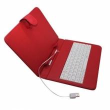 Калъф с клавиатура за таблет 8 инча - USB - ЧЕРВЕН