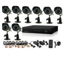 Видеонаблюдение - 8 канален DVR с 8 камери връзка с интернет и 3G