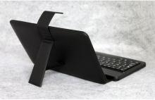 Калъф с кирилизирана клавиатура за таблет 7 инча - micro USB - ЧЕРЕН
