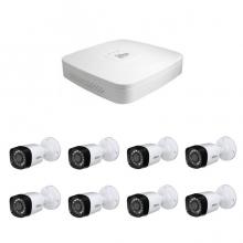 8 - канален DVR за видеонаблюдение с 8 булет камери 1MP, връзка с интернет и 3G