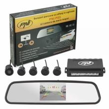 Парктроник с огледало с дисплей PNI P05 с 4 датчика и камера за задно виждане