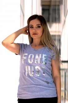 Сива тениска FONE JUST