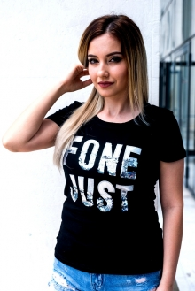 Черна тениска FONE JUST